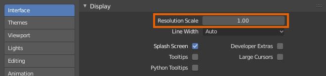 blender Resolution Scale