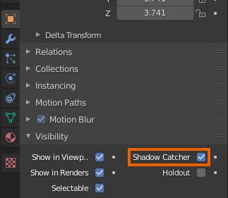 blender shadow catcher