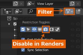 blender disable in renders