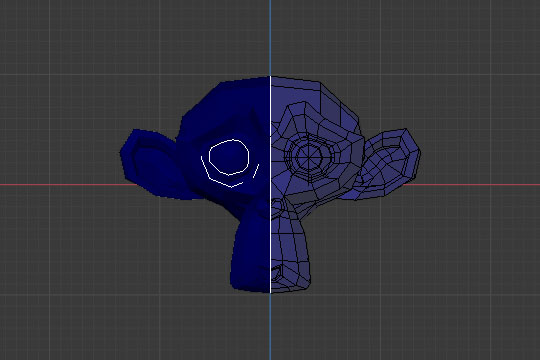 blender weight paint wireframe