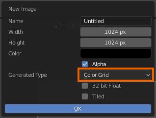 Blender UV Grid