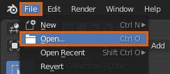 blender reset workspace