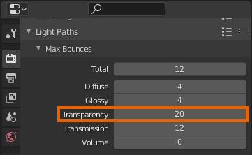 blender transparency